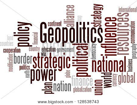 Geopolitics, Word Cloud Concept 9