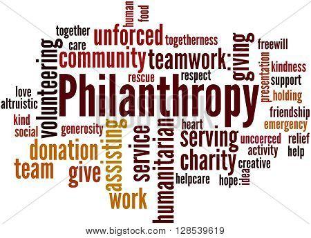 Philanthropy, Word Cloud Concept 3