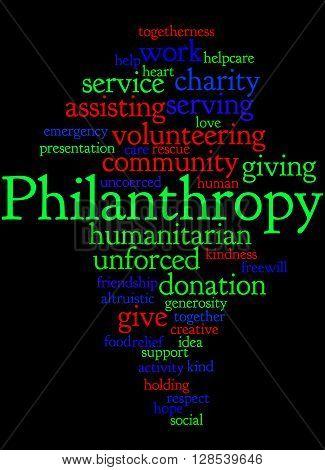 Philanthropy, Word Cloud Concept 5