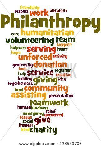 Philanthropy, Word Cloud Concept 9