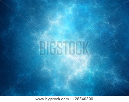 Blue glowing plasma force field in nebula computer generated abstract background