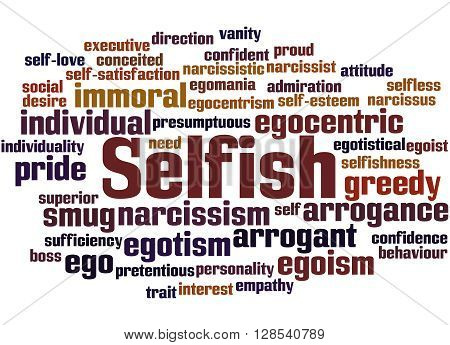 Selfish, Word Cloud Concept 9
