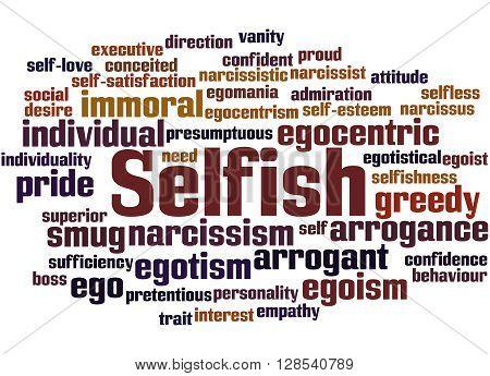 Selfish, Word Cloud Concept 9