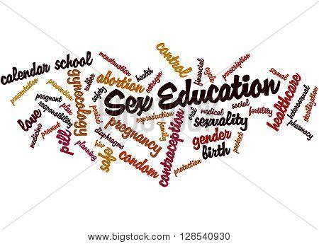 Sex Education, Word Cloud Concept 8