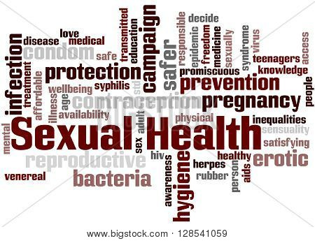 Sexual Health, Word Cloud Concept 3
