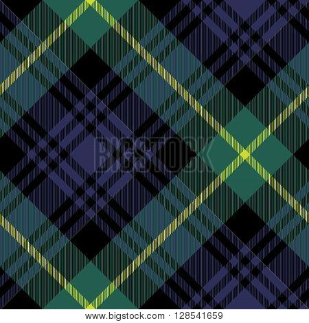 gordon tartan fabric texture check pattern seamless.Vector illustration. EPS 10. No transparency. No gradients.