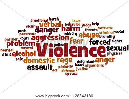 Violence, Word Cloud Concept