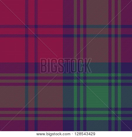 Lindsay tartan fabric textile check pattern seamless.Vector illustration. EPS 10. No transparency. No gradients.