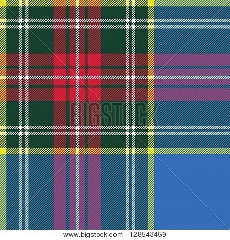 macbeth tartan kilt fabric textile check pattern seamless.Vector illustration. EPS 10. No transparency. No gradients.