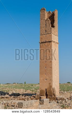 Ruins of the Great Mosque (Ulu Cami) in Harran Turkey 8th century