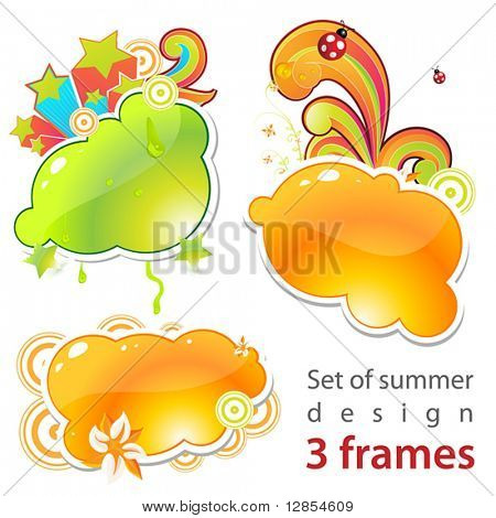 Set of summer frames!