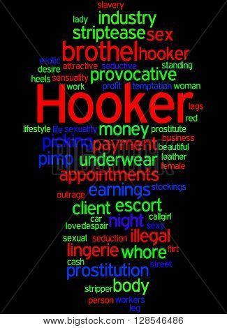 Hooker, Word Cloud Concept 6