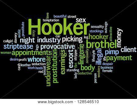 Hooker, Word Cloud Concept 7