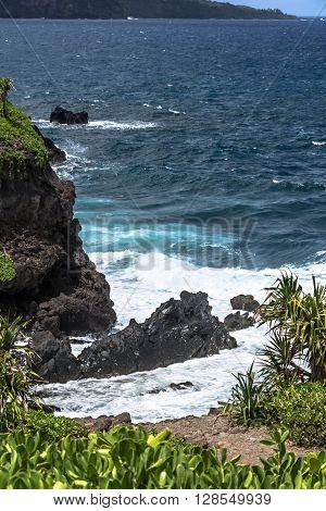 The coast of Haleakala National Park, Maui, Hawaii