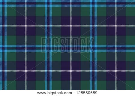 douglas tartan seamless pattern fabric texture .Vector illustration. EPS 10. No transparency. No gradients.