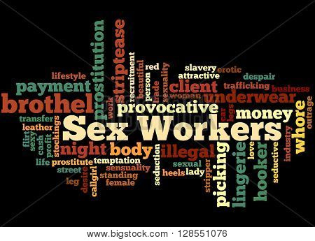 Sex Workers, Word Cloud Concept 6