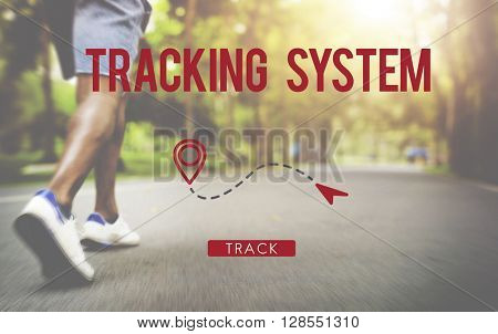 Tracking System Eletronic Fitness Gadget Workout Concept