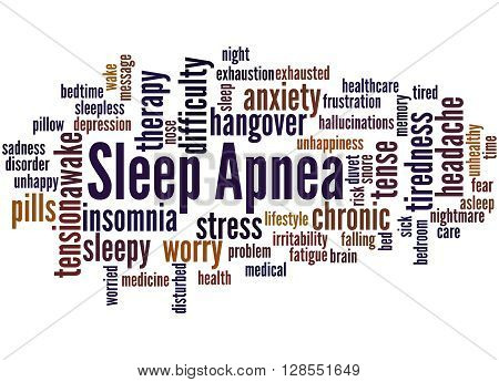 Sleep Apnea, Word Cloud Concept 9