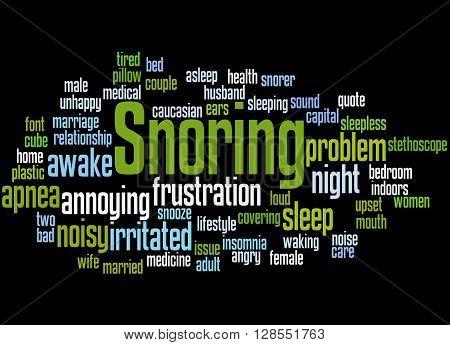 Snoring, Word Cloud Concept 5