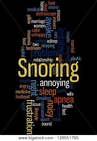 Snoring, Word Cloud Concept 6