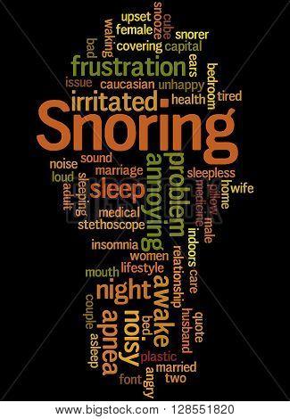 Snoring, Word Cloud Concept 8