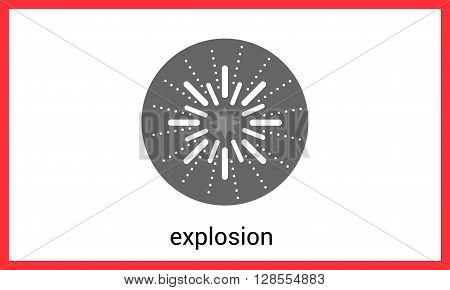 Explosion contour outline vector icon. Detonate linear pictogram