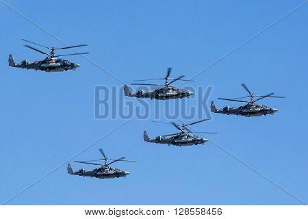 Kamov Ka-52 (alligator) Attack Helicopters