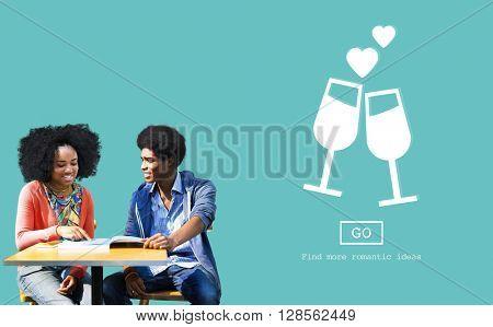Dating Passion Couple Cherish Emotional Concept