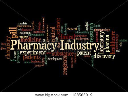 Pharmacy Industry, Word Cloud Concept 8