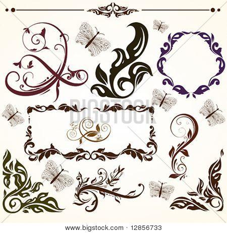Vintage patterns for design.