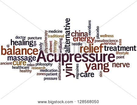 Acupressure, Word Cloud Concept