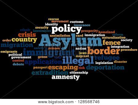 Asylum, Word Cloud Concept