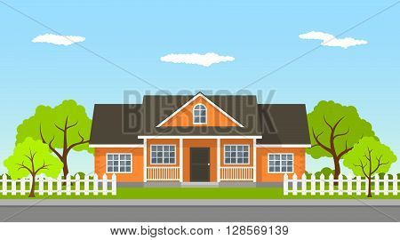 Cottage House Landscape