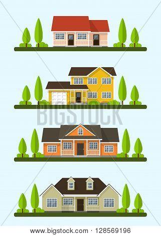 Cottage Houses Set