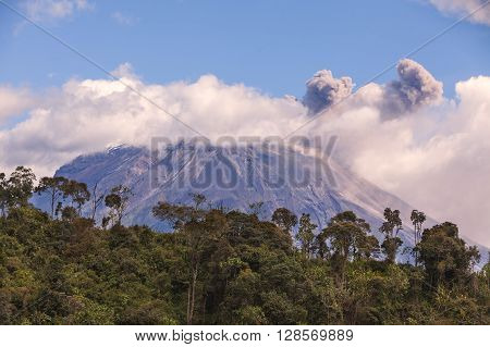 Tungurahua Is An Active Strato Volcano Located On The Eastern Edge Of The Andes Of Ecuador South America