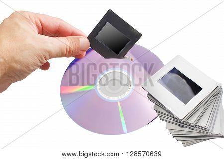 archive of old slides to DVD Digital