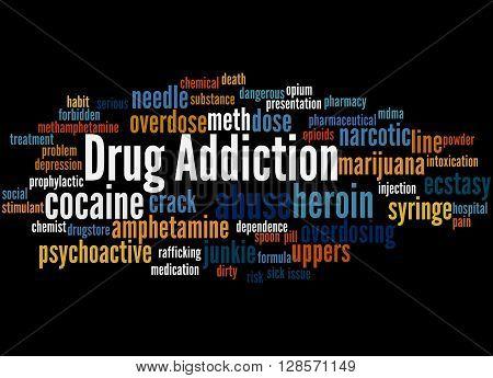 Drug Addiction, Word Cloud Concept 2