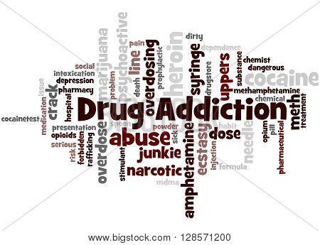 Drug Addiction, Word Cloud Concept 7