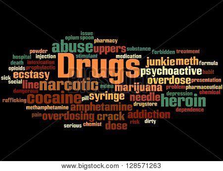 Drugs, Word Cloud Concept 2