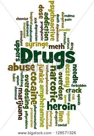 Drugs, Word Cloud Concept 5