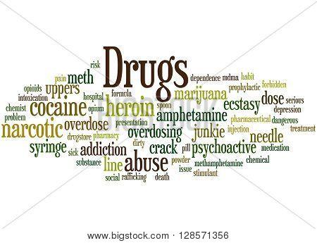 Drugs, Word Cloud Concept 7