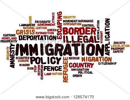 Immigration, Word Cloud Concept 6