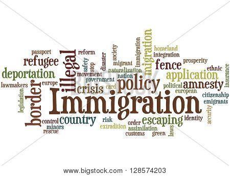Immigration, Word Cloud Concept 8