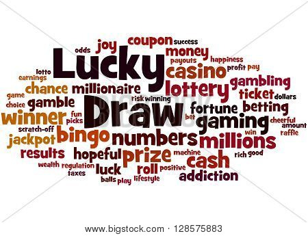 Lucky Draw, Word Cloud Concept 6