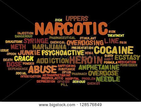 Narcotic, Word Cloud Concept