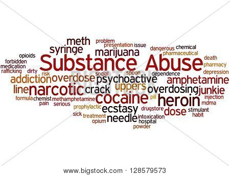 Substance Abuse, Word Cloud Concept 9