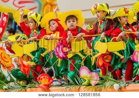 Banos De Agua Santa - 29 November, 2014 : Beautiful Group Of Latin American Kids Celebrating Carnival On City Streets Of Banos De Agua Santa South America In Banos De Agua Santa On November 29, 2014
