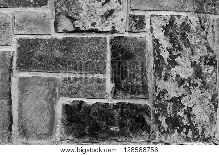 Black and white photo of flagstone texture.