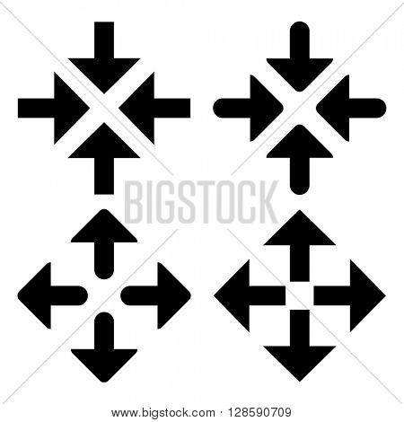 Collection of black arrow symbols