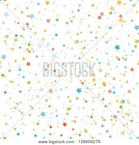 Abstract seamless pattern with stars. Vector illustration.